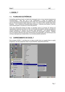Excel - Versão 7 - UnP - 72 páginas