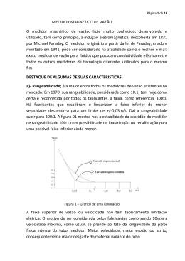 tecnolgia do medidor magnético de vazão