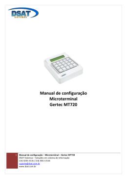 Gertec MT720 - DSAT Sistemas