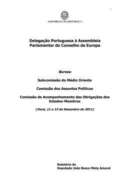 Delegação Portuguesa à Assembleia Parlamentar do Conselho da