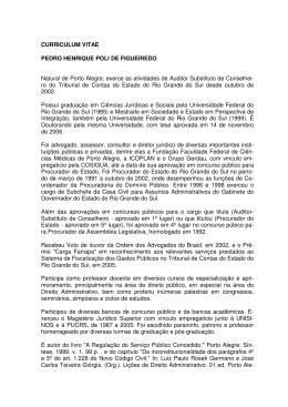 CURRICULUM VITAE PEDRO HENRIQUE POLI DE
