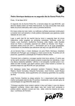 Pedro Henrique destaca-se no segundo dia do Sumol Porto Pro
