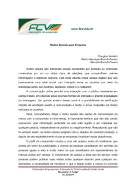 Redes Sociais para Empresa Douglas Veraldo Pedro Henrique