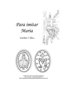Para imitar Maria - Nos Passos de Maria