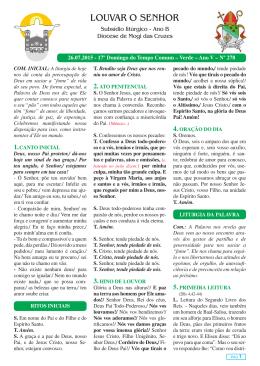 Louvar o Senhor Jornal Semanal - N278.indd