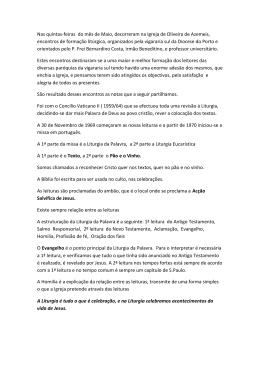 Encontro de Leitores - Paróquia São João da Madeira