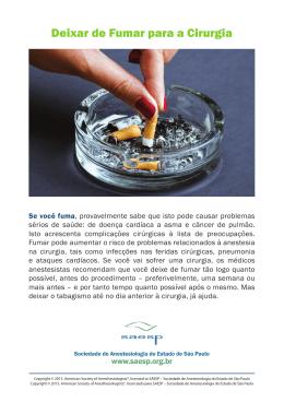 Deixar de Fumar para a Cirurgia
