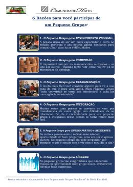 6 Razões para você participar de um Pequeno Grupo©1