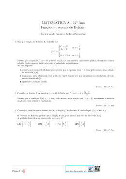 Teorema de Bolzano - Matemática? Absolutamente!