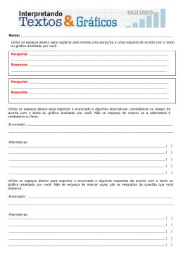 Alternativas Alternativas Utilize os espaços abaixo para registrar