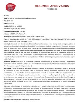 resumos aprovados - Jornada Nacional de Imunizações SBIm 2015