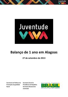 Balanço da Juventude Viva em Alagoas