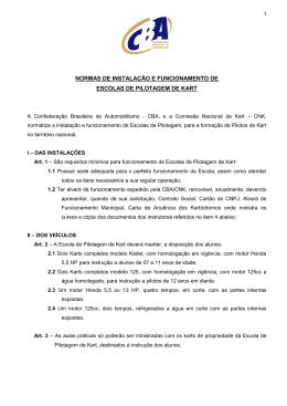 normas de instalação e funcionamento de escolas de pilotagem de