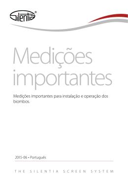 Medições importantes para instalação e operação dos