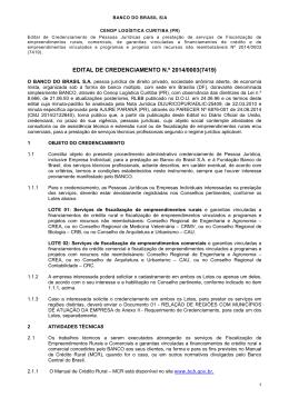 edital de credenciamento n.º 2014/0003(7419)