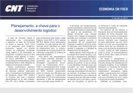 Planejamento: a chave para o desenvolvimento logístico