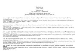 Lista dos Trabalhos Aprovados (Oral)