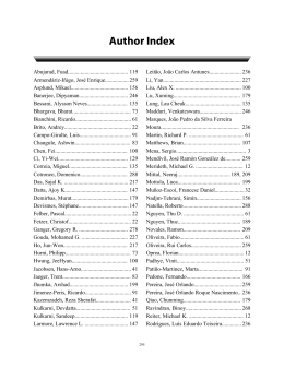 Author Index