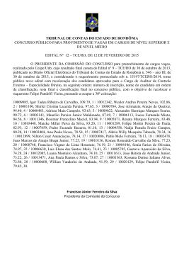 Edital n. 12 - Reclassificação - TCE-RO