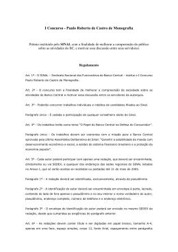 I Concurso - Paulo Roberto de Castro de Monografia