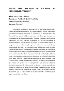 Aluno: Paulo Roberto Roman Orientador: Prof. Danilo Sinkiti Gas