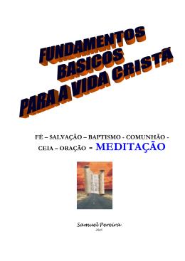 meditação - Igreja Evangélica em Silvalde