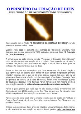 O PRINCIPIO DA CRIACAO DE DEUS Parte 2 Pdf 1