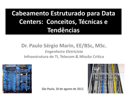 Cabeamento no Data Center