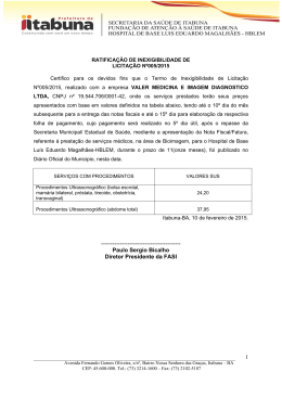 Paulo Sergio Bicalho Diretor Presidente da FASI