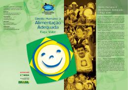 Folder - Direito Humano à Alimentação Adequada no Brasil