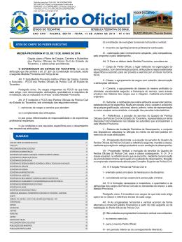 Diário Oficial do Estado - Governo do Estado do Tocantins