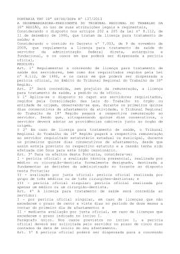 PORTARIA TRT 18ª GP/DG/SGPe Nº 137/2013 A