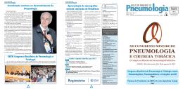 XII Congresso Mineiro - Sociedade Mineira de Pneumologia e