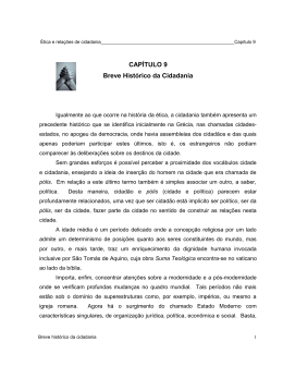 CAPÍTULO 9 Breve Histórico da Cidadania