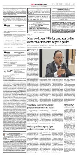 Ministro diz que 48% dos contratos do Fies atendem a