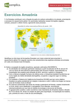 Exercícios Amazônia