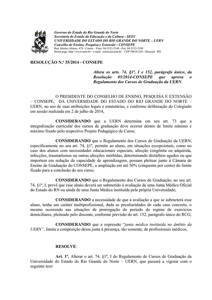Resolução 35 2014