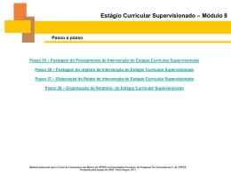Estágio Curricular Supervisionado – Módulo 8 - ProlicenMus