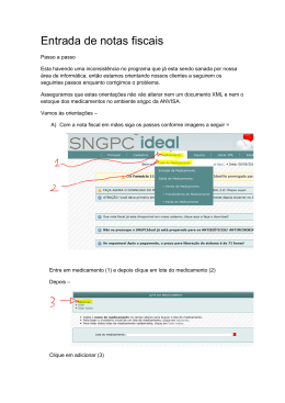 Entrada de notas fiscais sngpc ideal