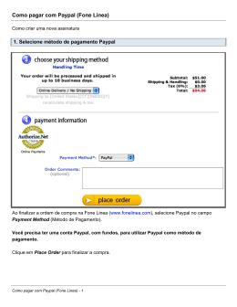 Como pagar com Paypal (Fone Linea)