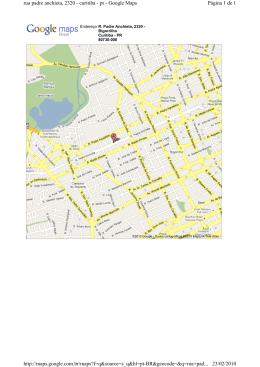 Página 1 de 1 rua padre anchieta, 2320 - curitiba - pr