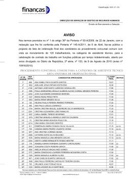 Projecto de lista de ordenação final