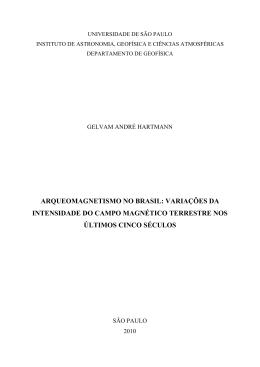 arqueomagnetismo no brasil: variações da intensidade do