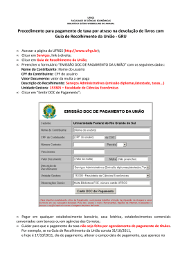 procedimento para pagamento com boleto bancário