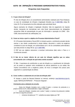 AUTO DE INFRAÇÃO E PROCESSO ADMINISTRATIVO FISCAL
