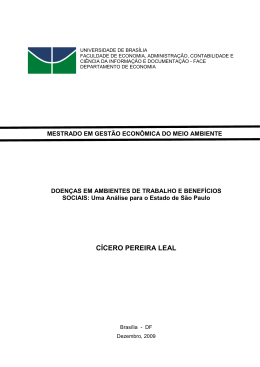 CÍCERO PEREIRA LEAL - Universidade de Brasília