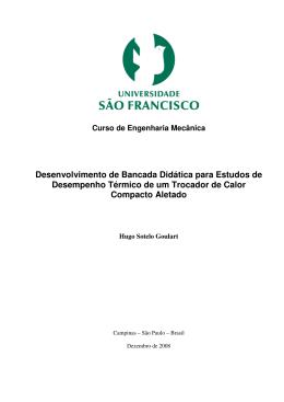Desenvolvimento de Bancada Didática para Estudos de