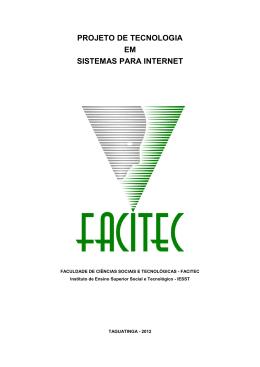 projeto de tecnologia em sistemas para internet