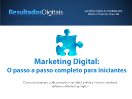 Marketing Digital: O passo a passo completo para iniciantes