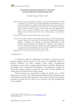 Bernardo Veiga de Oliveira Alves1 A noção de criação